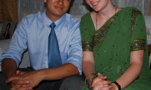 Manu and I at a wedding in Nepal