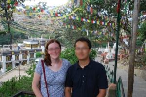 P and I at Swayambhunath in Kathmandu