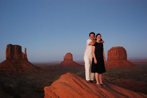 P and I at Monument Valley in Utah