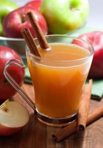 Warm apple cider...