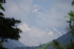 First view of Mt. Everest from P and my trek