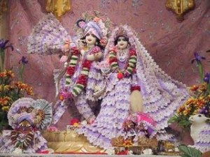 Life sized Radha and Krishna statues