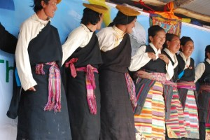 Photo from a Sherpa climate change festival P and I went to on our trek. These dancers/singers are probably Tibetan, although Sherpas live in both Nepal and Tibet