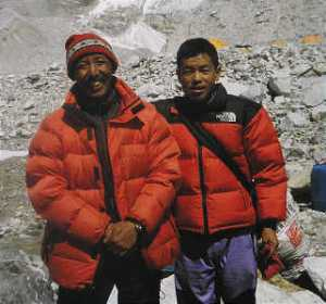 Sherpa--helping with mountain expeditions